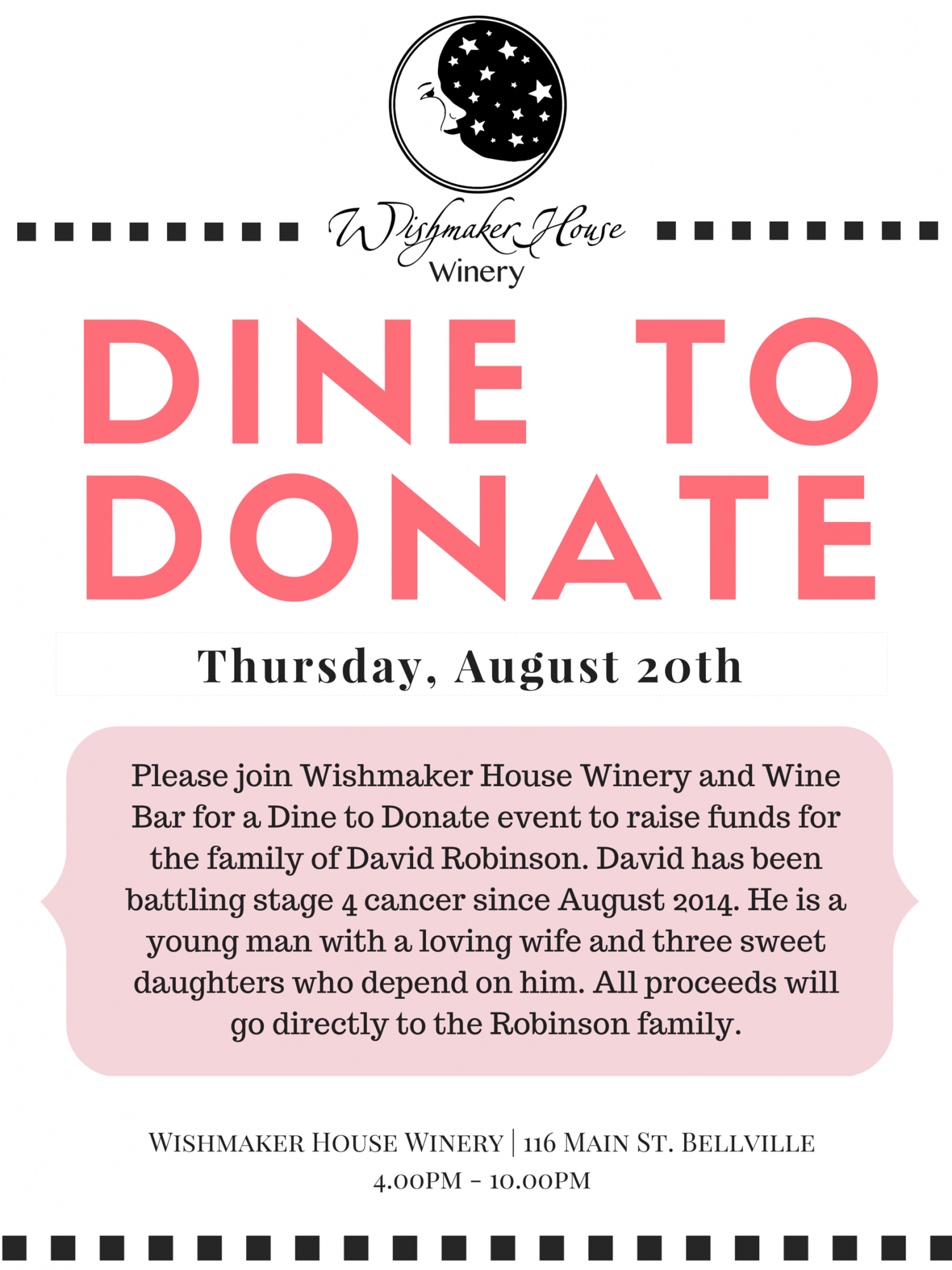 Dine to Donate for the Robinson Family