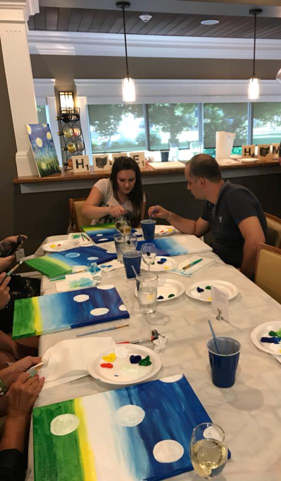 Great group for the Wine and Paint last night!